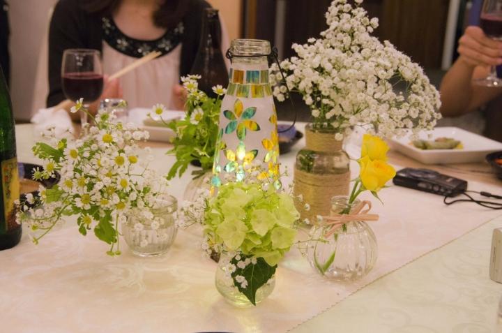 ▲テーブル中央に配置された可愛らしい装飾