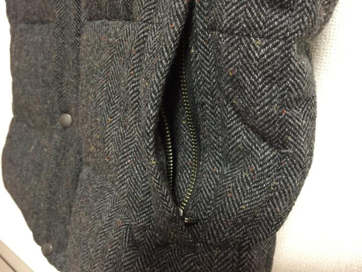 ▲ポケットはジッパーになっているため、開け閉めが可能(これで落とし物がなくなります)